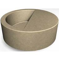 Concrete Planter with Seat