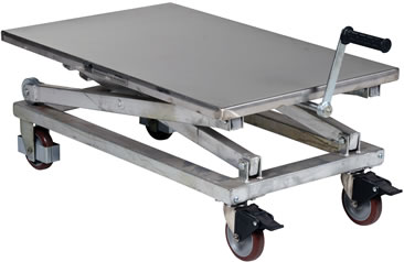Stainless Steel Mechanical Scissor Carts, Stainless Steel