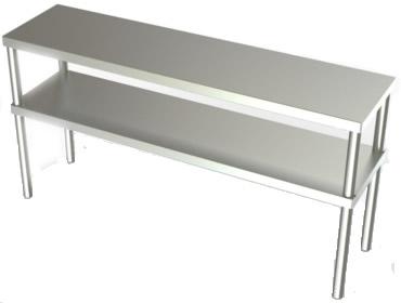Stainless Steel Overshelf, Stainless Steel Double Overshelves