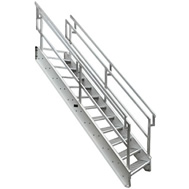 osha aluminum stair conforms to new 2017 standard 42 guards 36 inboard rails 45 incline for industrialcommercial uses to 144 - Aluminum Stairs