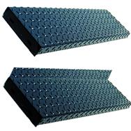 Beau Open Riser Diamond Plate Treads (OSHA And BOCA Type)