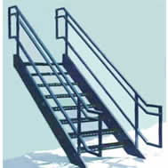 Steel Prefabricated Stairs And Fixed Vertical Ladders