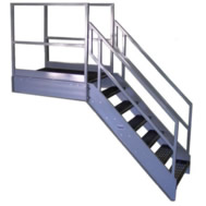 Stairs With Horizontal Platform Extensions