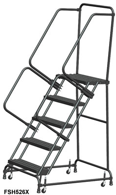 Standard Rolling Ladders With Spring Loaded Casters, Rolling Ladder, Mobile  Stairs