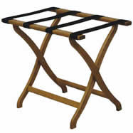 designer series oak luggage racks