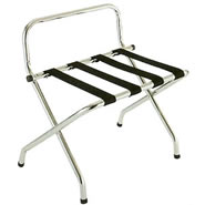 metal and wood folding luggage racks