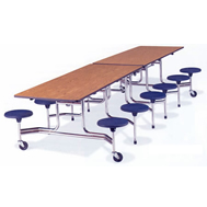 mobile stool tables