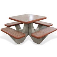 concrete square table