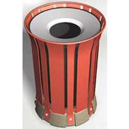 steel slat waste continer