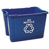 rubbermaid recycling deskside containers