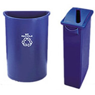 rubbermaid recycling station containers & tops