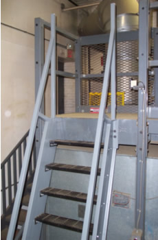 Welded Aluminum Ships Ladder Hatch Access Roof Access