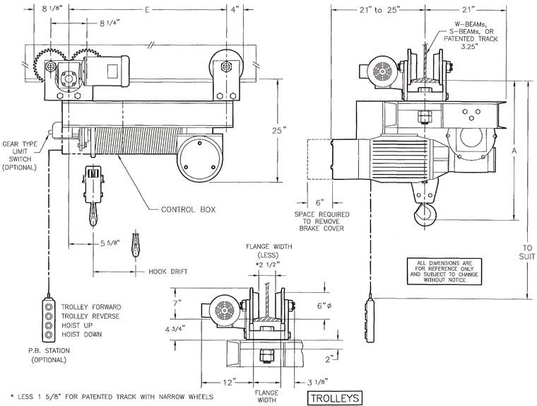 trolley hoist wiring diagram  trolley  get free image